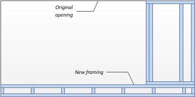 Bottom part fills opening